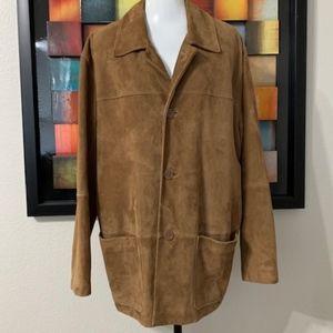 Turnbury Suede Leather Men's Coat Size L